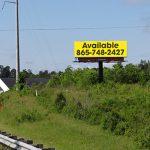 Bill board for Lease Loudon Co, Lenior City